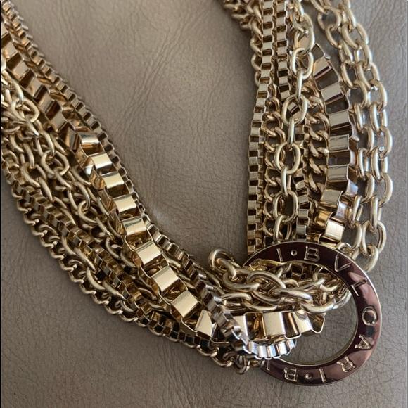 Bvlgari authentic pendant multi strand necklace